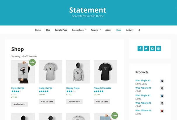 Бесплатная тема Statement для магазина на WooCommerce