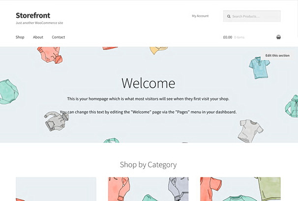 Бесплатная тема StoreFront для магазина на WooCommerce