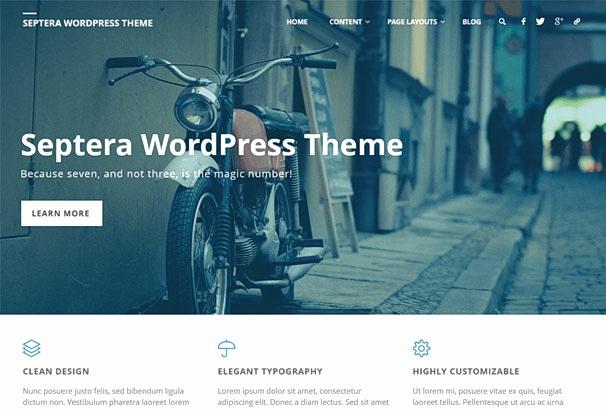 Бесплатная тема Septera для магазина на WooCommerce