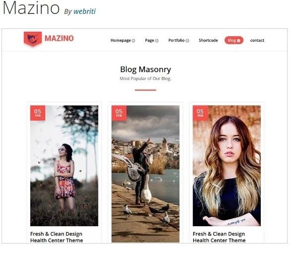 Mazino многопользовательская тема WordPress