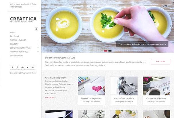 Бесплатная тема Creattica для магазина на WooCommerce