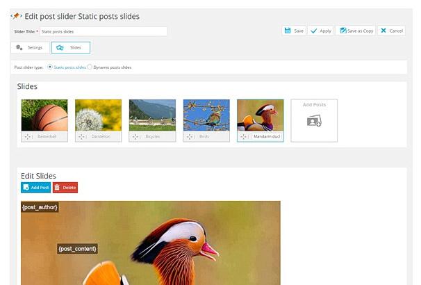 20 бесплатных плагинов для Слайдеров картинок на WordPress в