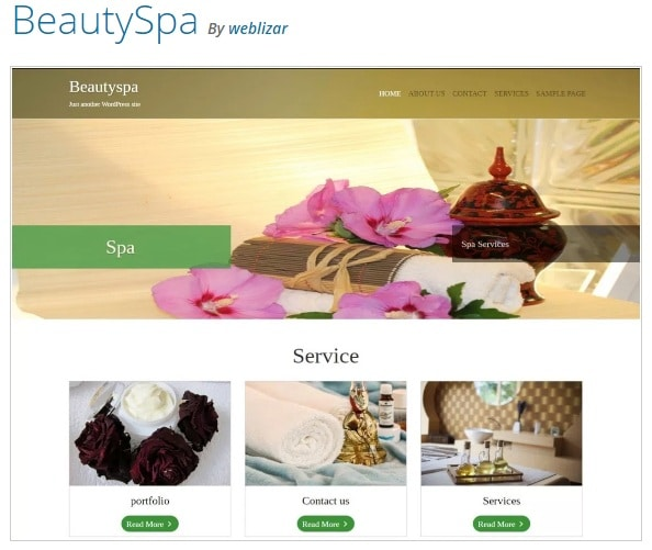Beautyspa тема WordPress