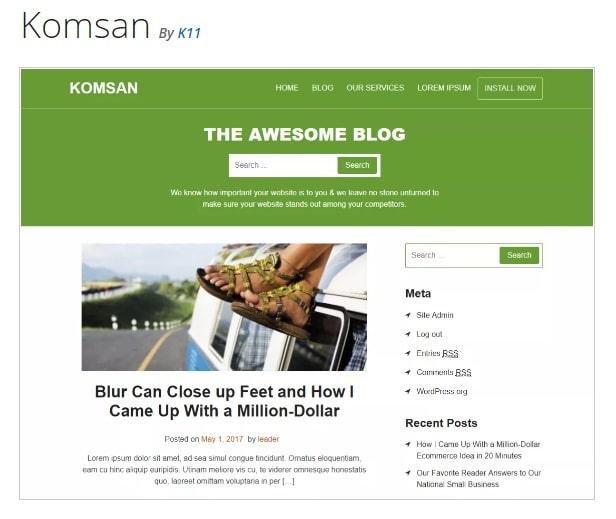 Komsan - тема WordPress