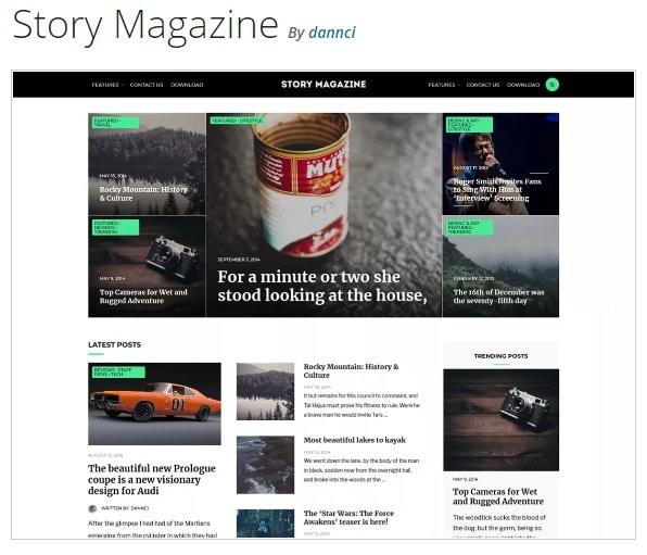 Story Magazine тема вордпресс