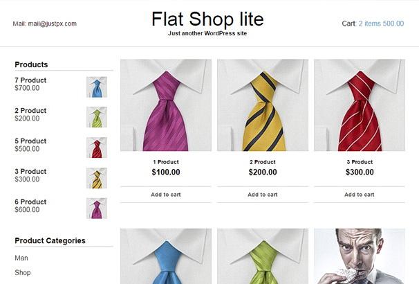 Бесплатная тема Flat Shop Lite для магазина на WooCommerce