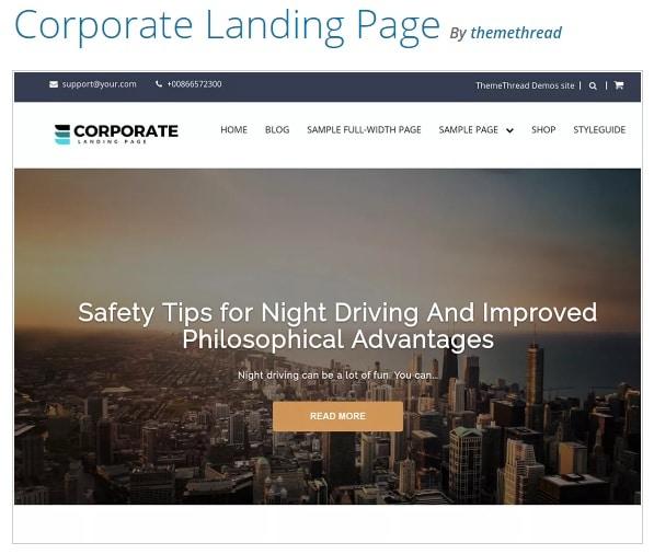 Corporate Landing Pag тема вордпресс