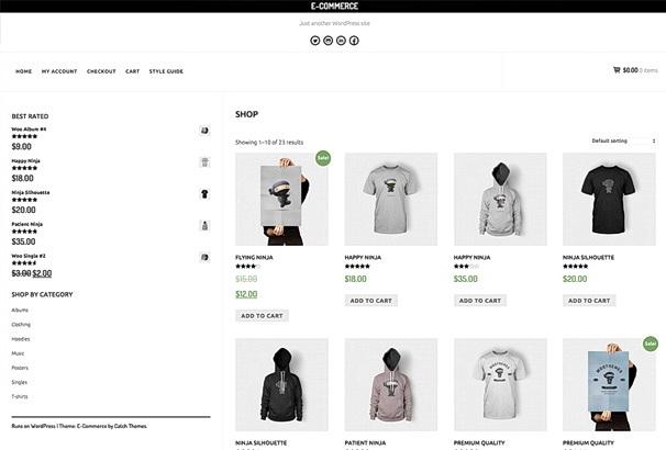 Бесплатная тема E-Commerce для магазина на WooCommerce