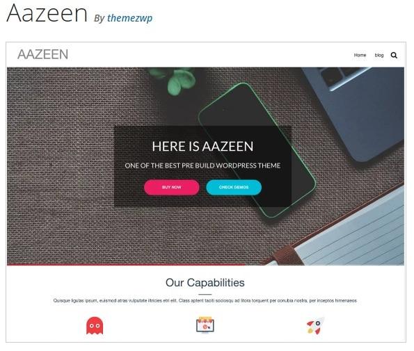 Тема Aazeen WordPress