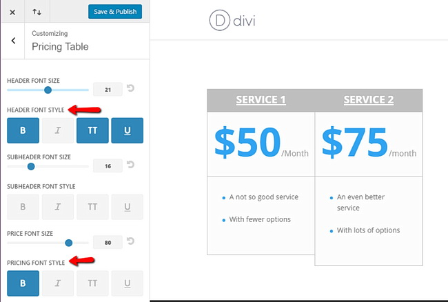 Divi 3 0 wordpress elegant - Divi pricing table ...