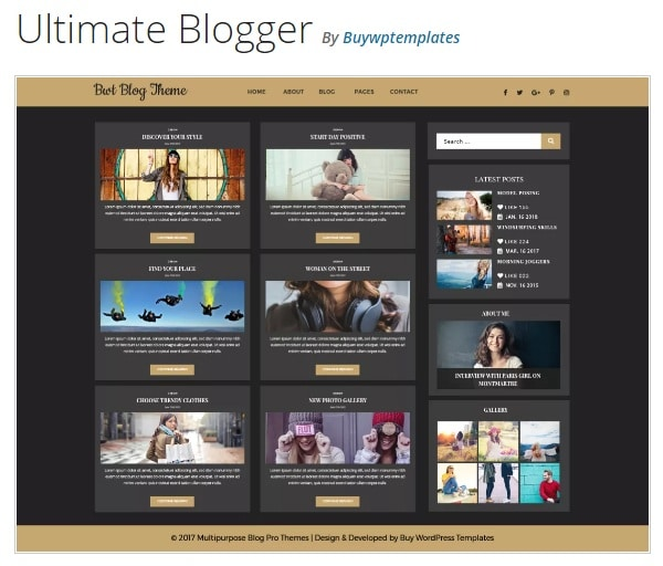 Ultimate Blogger тема блога