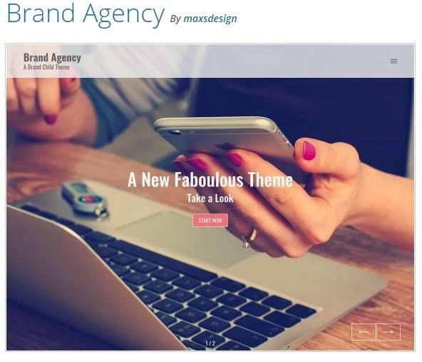 Brand Agency тема вордпресс