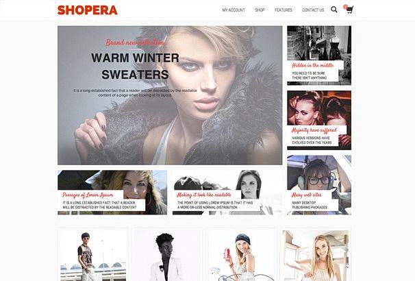 Бесплатная тема Shopera для магазина на WooCommerce