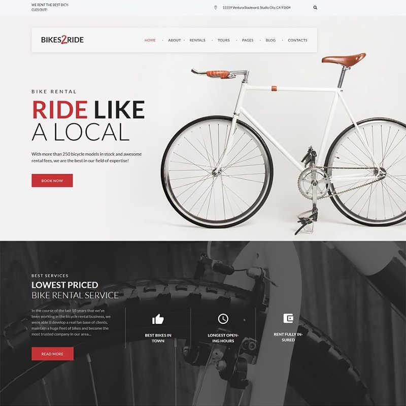 WordPress шаблон Bikes2Ride - Cycling
