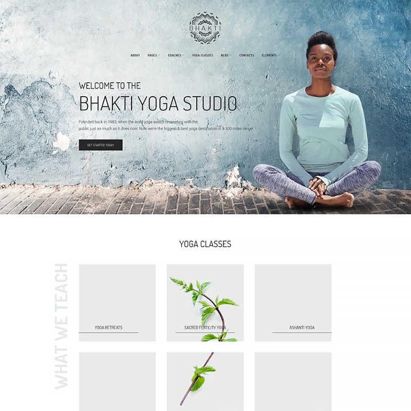 Bhakti - шаблон WordPress сайта йога-студии