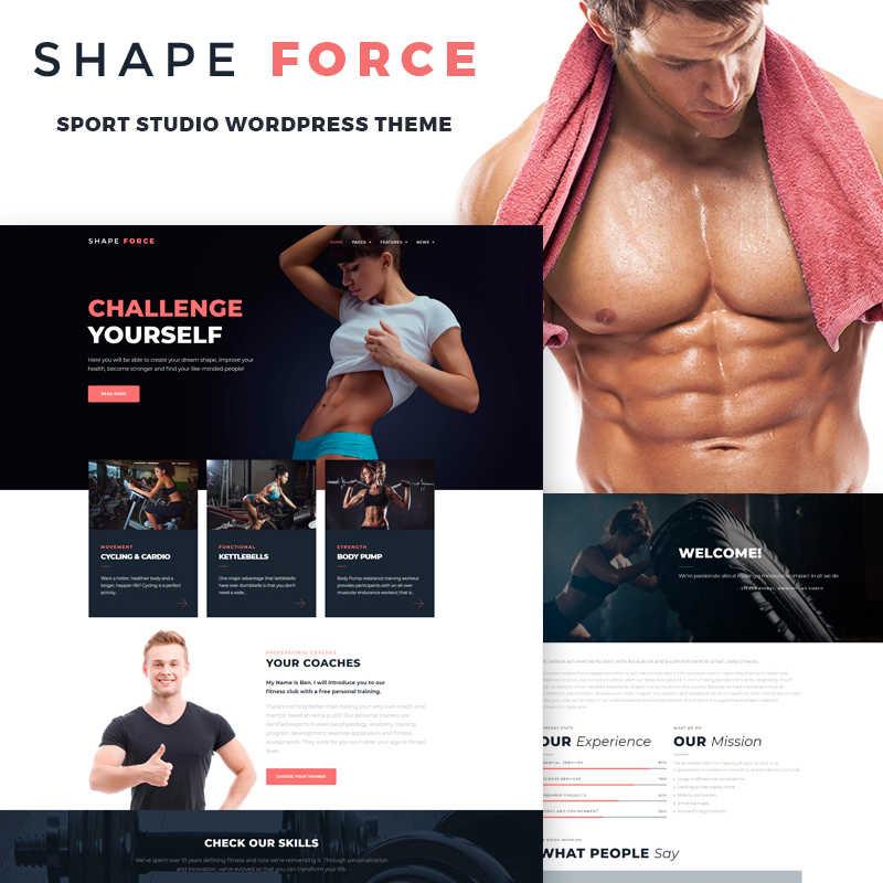 WordPress шаблон ShapeForce - Sport Studio