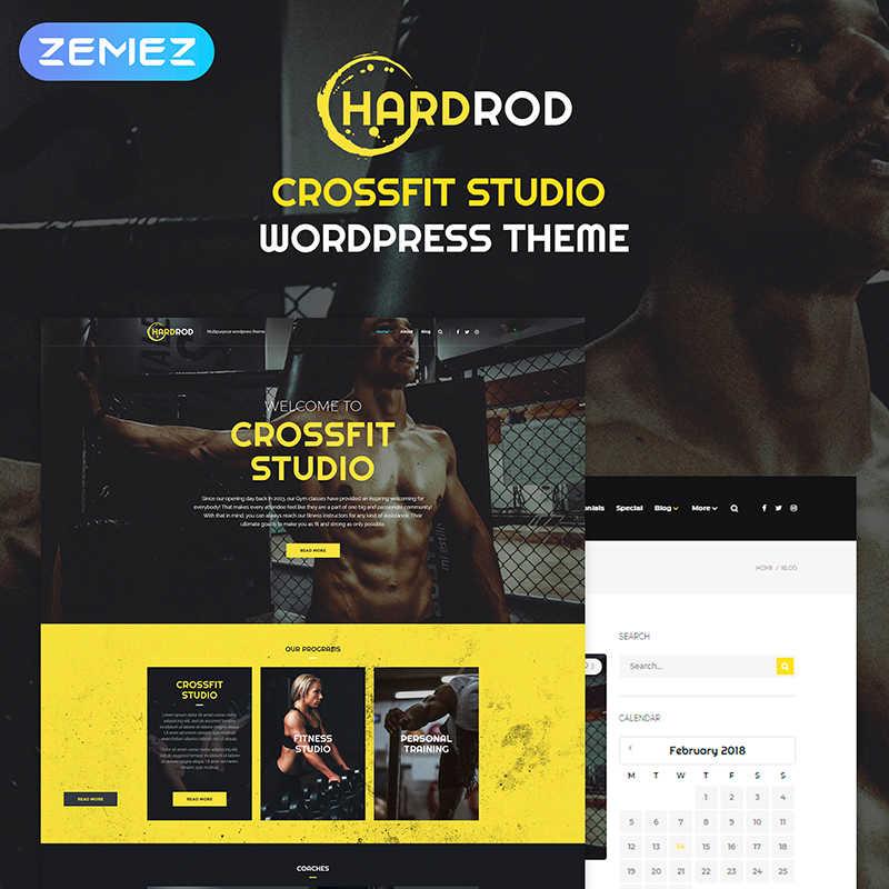 WordPress шаблон Hardrod - Dynamite Fitness & Bodybuilding