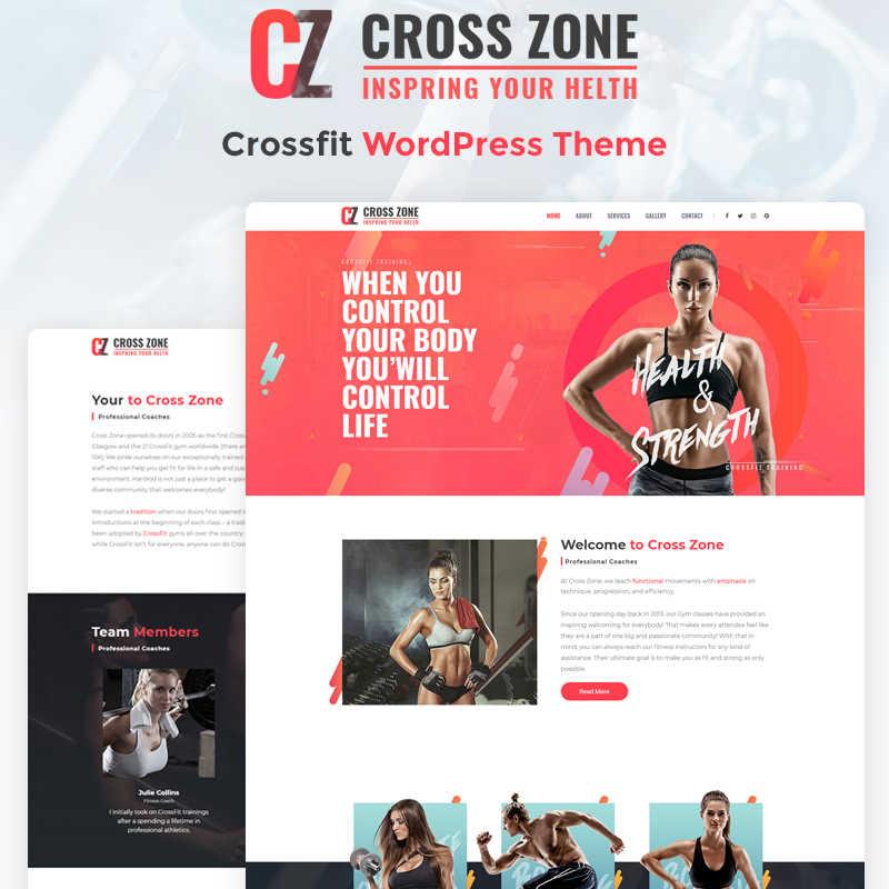 Cross Zone - Elementor WordPress шаблон сайта по кроссфиту