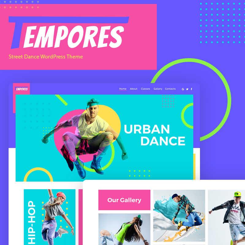 WordPress шаблон Tempores - Street Dance Elementor