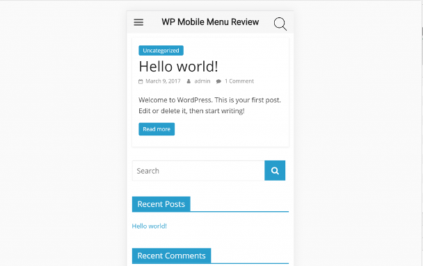 Obzor WP Mobile Menu WordPress