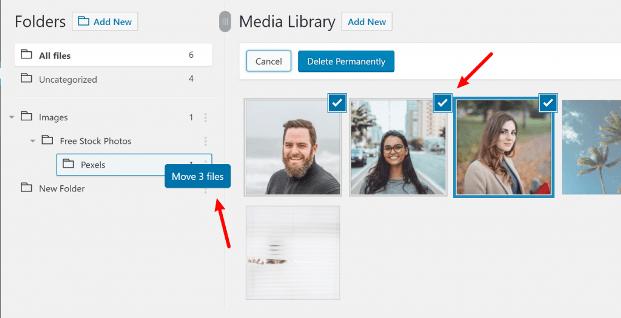 papkalarni WordPress media kutubxonasiga qo'shish