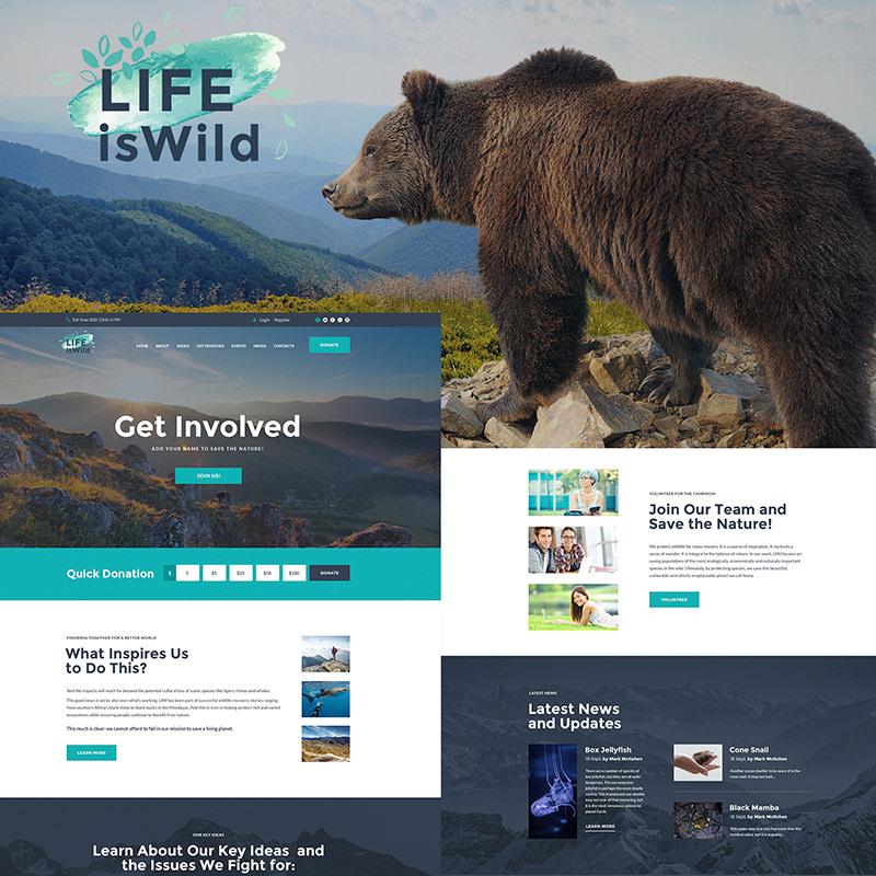 WordPress шаблон LifeisWild - Wild Life WordPress Theme