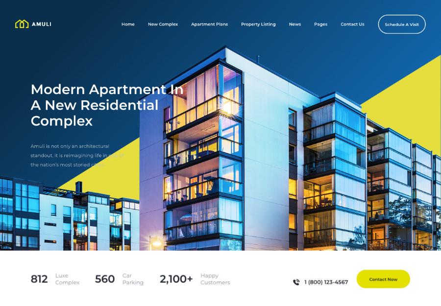 Amuli   Single & Multiple Property Real Estate WordPress Theme