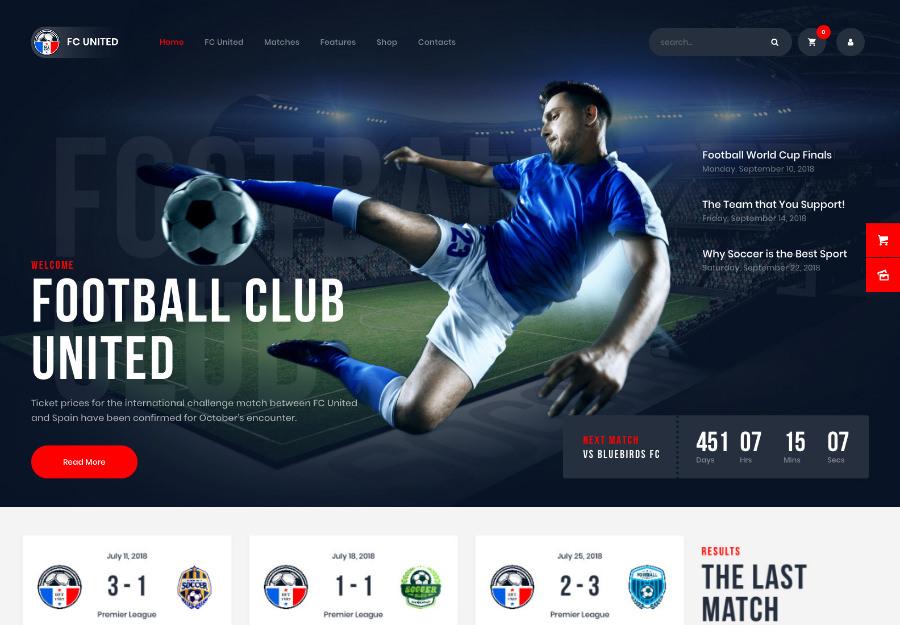 FC United   Football, Soccer WordPress Sports Theme
