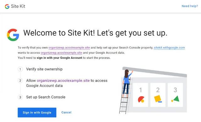 Google sayt to'plami dlya WordPress