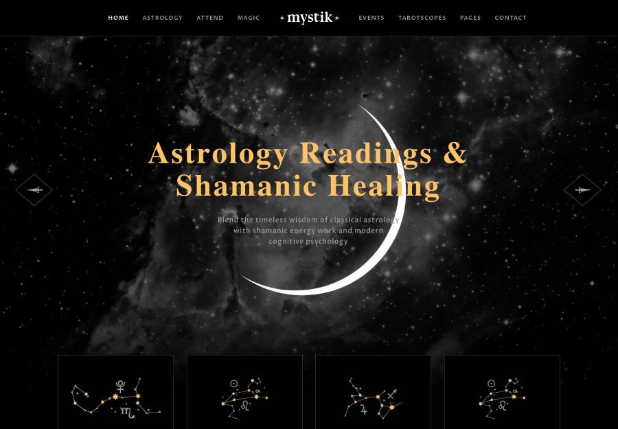 Mystik   Astrology & Esoteric Horoscope WordPress Theme