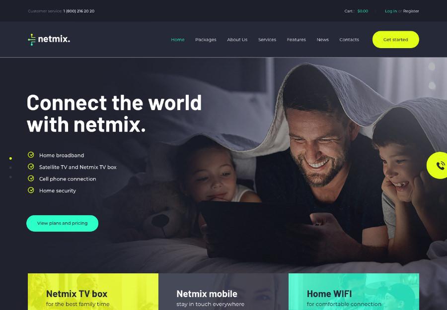 Netmix   Broadband & Telecom Internet Provider WordPress Theme