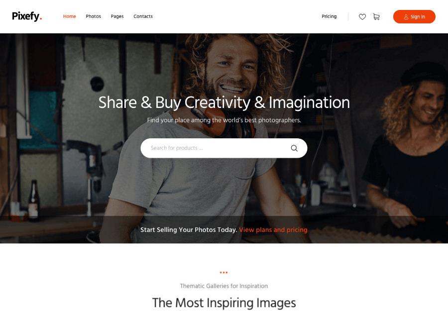Pixefy   Stock Photography Marketplace Theme