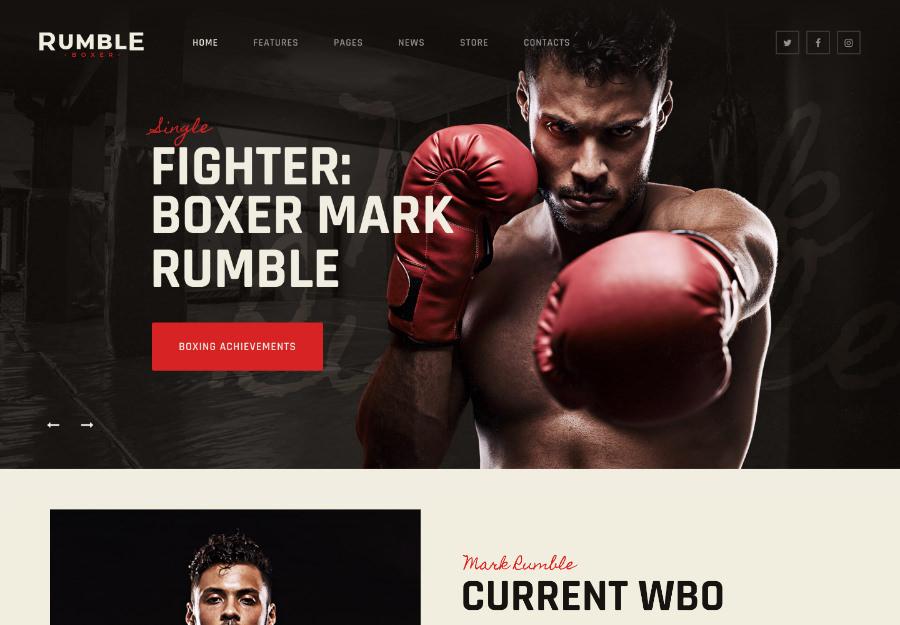 Rumble   Boxing & Mixed Martial Arts Fighting WordPress Theme