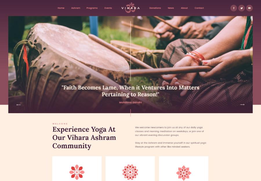 Vihara   Ashram Oriental Buddhist Temple WordPress Theme