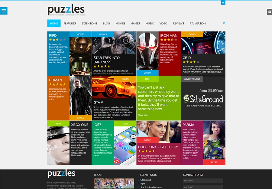 Bulmacalar |  WP jurnali / Review WordPress Theme + RTL do'koni bilan