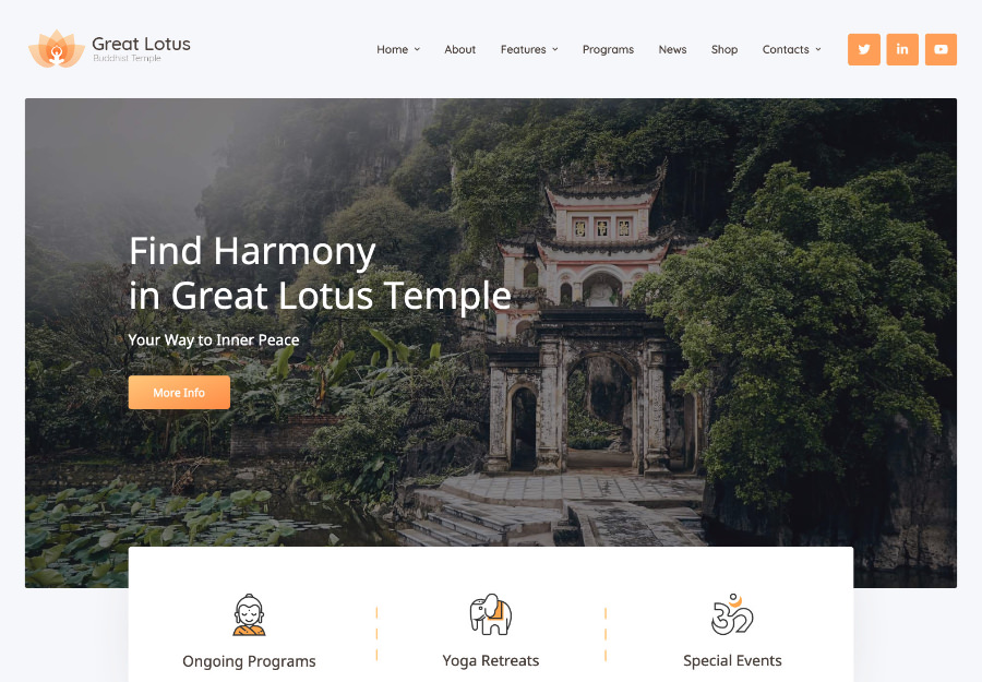 Buyuk Lotus - Budda ibodatxonasi shablonlari to'plami