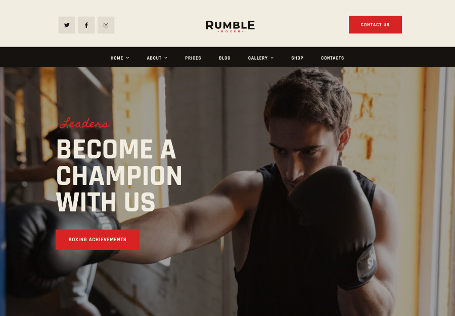 Rumble - Boxing, MMA & Fighting Elementor Andoza to'plami