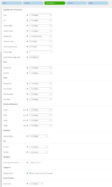 Как массово редактировать продукты WooCommerce
