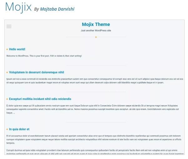 WordPress тема Mojix