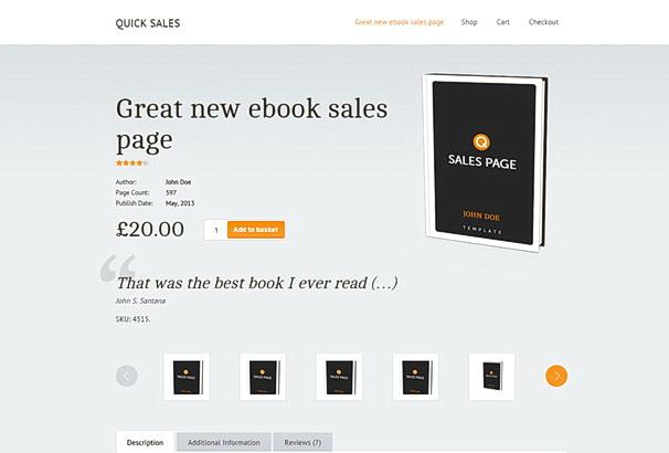 Бесплатная тема Quick Sales для магазина на WooCommerce