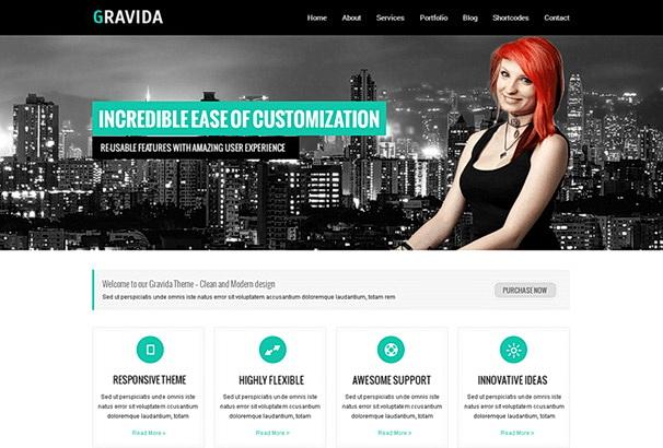 Бесплатная тема Gravida для магазина на WooCommerce