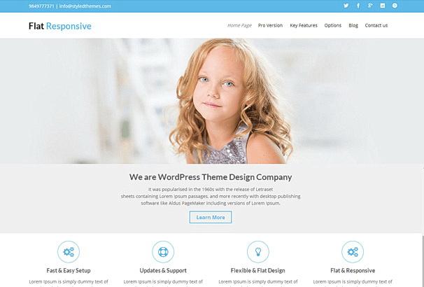 Бесплатная тема Flat Responsive для магазина на WooCommerce
