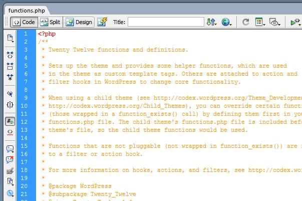 Использование functions.php