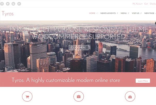 Бесплатная тема Tyros для магазина на WooCommerce