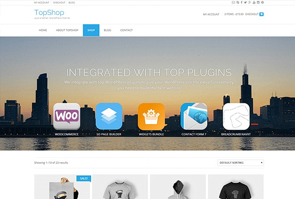 Бесплатная тема TopShop для магазина на WooCommerce