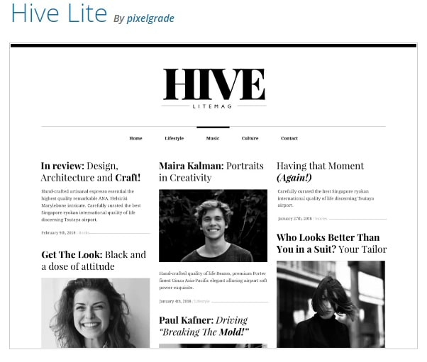 тема вордпресс Hive Lite