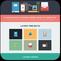 30 трендовых и новых тем WordPress в стиле 'Flat Design'
