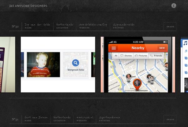 365-Awesome-Designers 30 самых необычных и красивых сайтов, сделанных на WordPress по версии WPlift.com