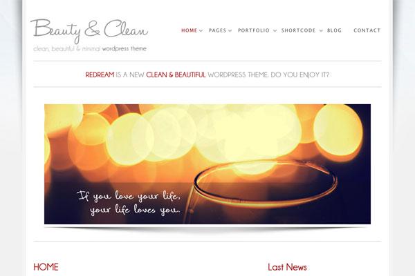 beauty clean premium wordpress theme