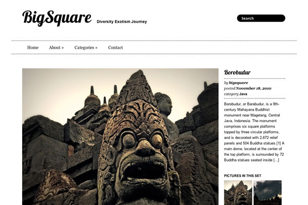 big square premium wordpress theme